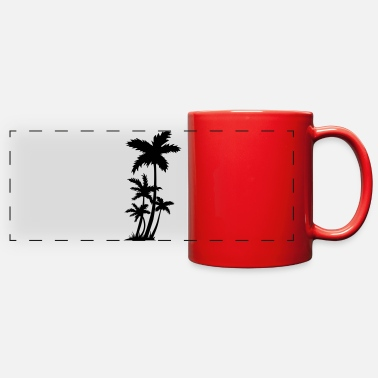 Palm Trees Palm trees - Full Color Panoramic Mug