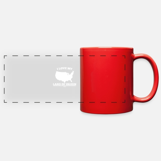 Los Angeles Mugs & Drinkware - USA America United States Gift - Full Color Panoramic Mug red