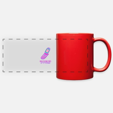 Snitches Get Stitches Snitches Get Stitches - Vaporwave - Full Color Panoramic Mug