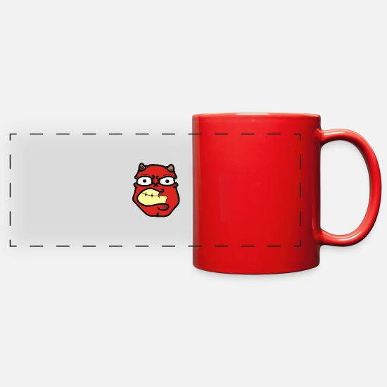 Devil Horns Mugs & Drinkware - Devil faces - Full Color Panoramic Mug red