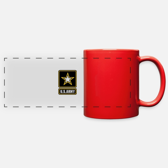 Army Mugs & Drinkware - US ARMY LOGO transparent - Full Color Panoramic Mug red