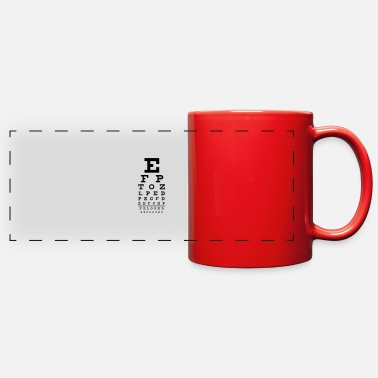 Geek eye chart - Full Color Panoramic Mug