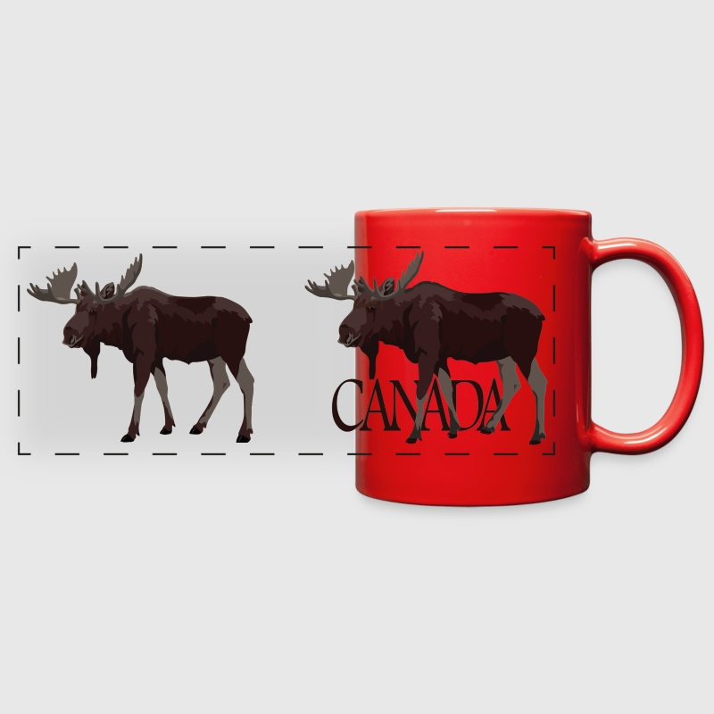 Moose Art - Full Color Panoramic Mug