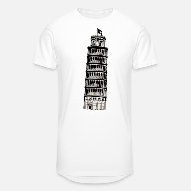 Inclined Tower leaning tower of pisa - Unisex Oversize T-Shirt