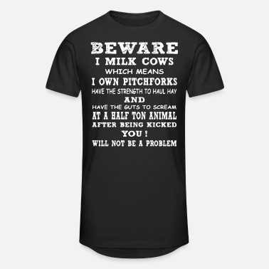 I Have Sex Daily I Mean Dyslexia Beware i milk cows which means i own pitchforks ha - Unisex Oversize T-Shirt
