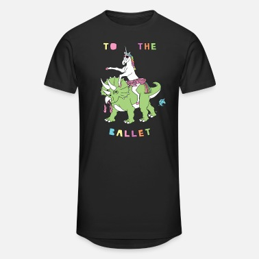 To The Ballet Unicorn Riding Dinosaur - Unisex Oversize T-Shirt