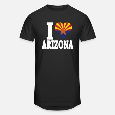 Arizona I LOVE ARIZONA FLAG - Unisex Oversize T-Shirt