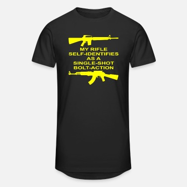 Bolt-action Rifles My Rifle Self Identifies As A Single Shot Bolt Act - Unisex Oversize T-Shirt