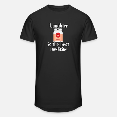 Laughter Therapy Laughter is the best medicine - Unisex Oversize T-Shirt