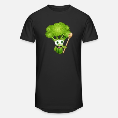 Wooden Spoon funny cartoon broccoli florets with wooden spoon - Unisex Oversize T-Shirt