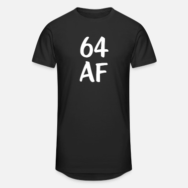 Geek Funny Birthday 64 AF Birthday - Unisex Oversize T-Shirt