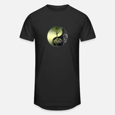 Nature Nature Conservation Yin Yang-Save Our Mother Earth - Unisex Oversize T-Shirt