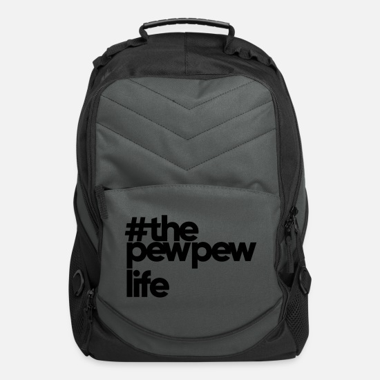 Pewpew Bags & Backpacks - The Pew Pew Life - Computer Backpack charcoal