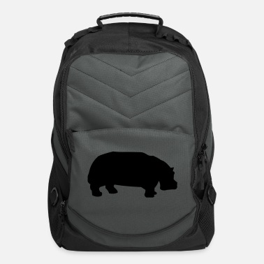 Wild hippo - Computer Backpack