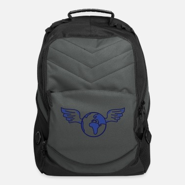 Quote earth with wings - Computer Backpack