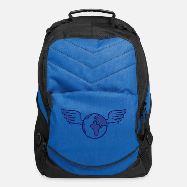 Slogan earth with wings - Computer Backpack
