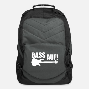 Topseller BASS AUF! bass player trend design gift topseller - Computer Backpack