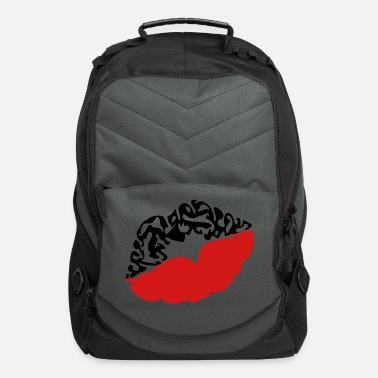 Deadly Sexy Vampire Luscious Red Lips Design For ♥ټXxSexy Tattooed Luscious Sensual Lips xXټ♥ - Computer Backpack