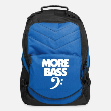 Bassist More Bass (White) Bassist - Computer Backpack