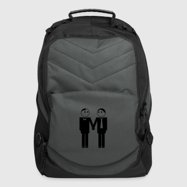 gay couple / gay couple hand in hand 1c - Computer Backpack