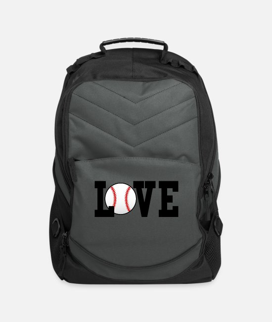 Heart Bags & Backpacks - Baseball Love - Computer Backpack charcoal