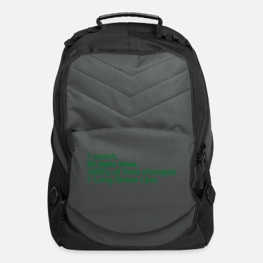 Base Line The Long Green Line #'s - Computer Backpack