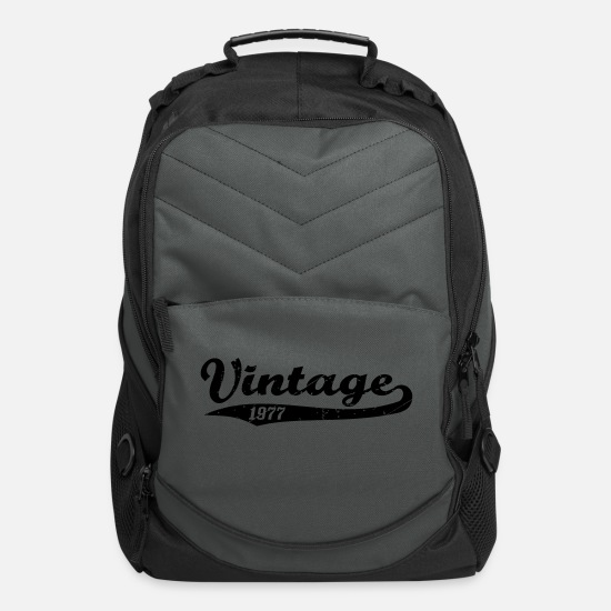 Birthday Bags & Backpacks - Vintage 1977 - Computer Backpack charcoal