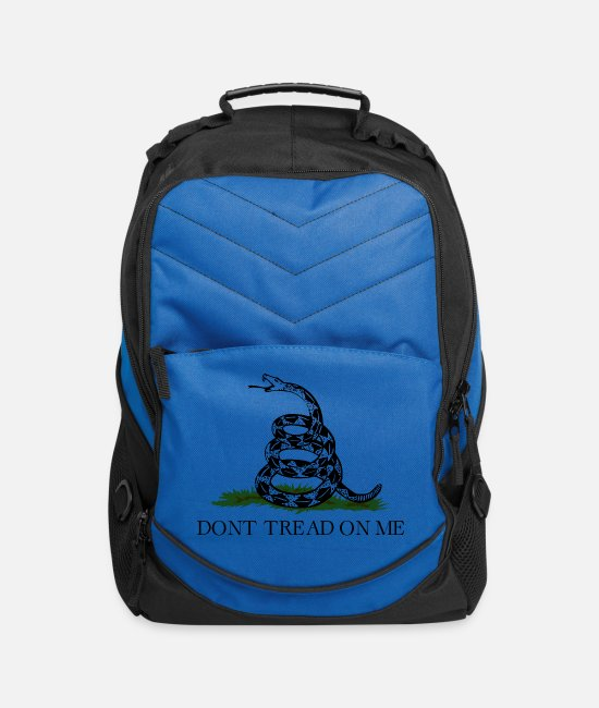 Guns Bags & Backpacks - Don't Tread On Me (Gadsden Flag) - Computer Backpack royal blue