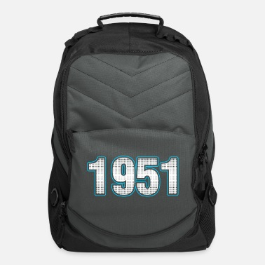 Birthday 1951 Numbers years Tshirt - Computer Backpack