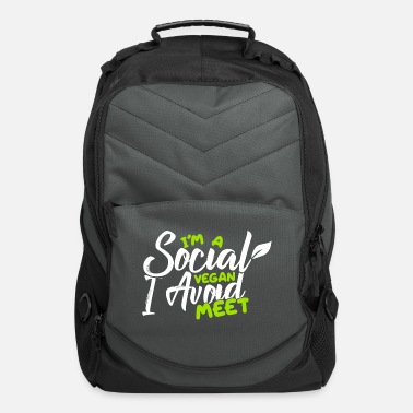 Social Social vegan. - Computer Backpack