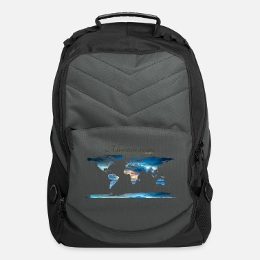 World Map World map - Let' go! - Computer Backpack