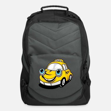 Rarity Funny Taxi Cartoon Car - Computer Backpack