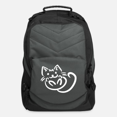 Kawaii Cuddling Kitten - Computer Backpack