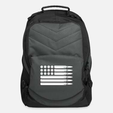 First Ammo Bullet USA Flag - Computer Backpack
