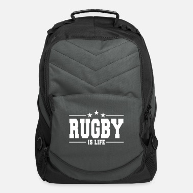 Exercise rugby is life 1 - Computer Backpack