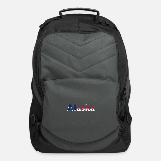 "Gift Idea Bags & Backpacks - 4th of July ""alaska"" - Computer Backpack charcoal"
