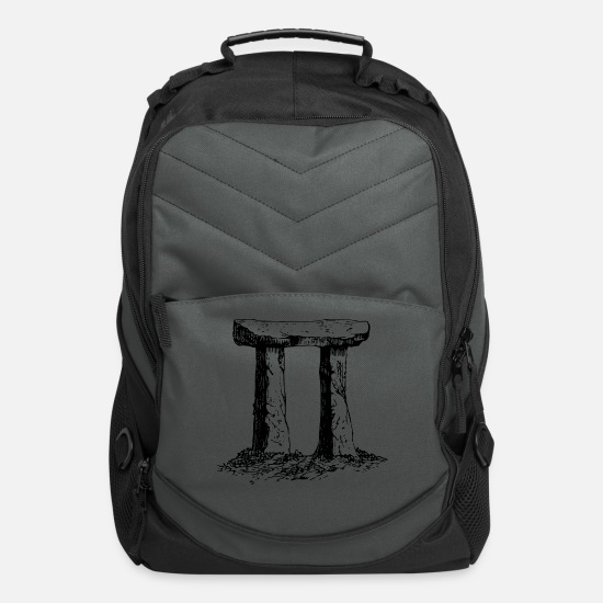 Old Bags & Backpacks - Standing stones - Computer Backpack charcoal