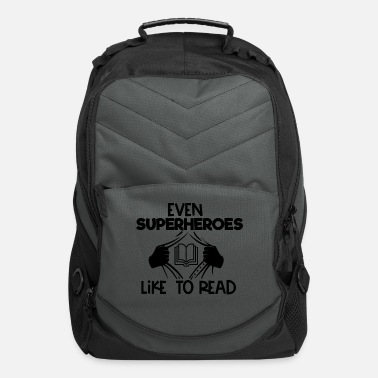 Moron even superheroes like to read - Computer Backpack