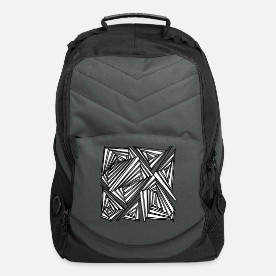 New Bags & Backpacks - lines - Computer Backpack charcoal