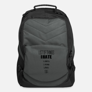 List The list - Computer Backpack