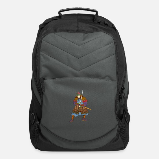 Japanese Bags & Backpacks - samurai-warrior-katana-sw - Computer Backpack charcoal