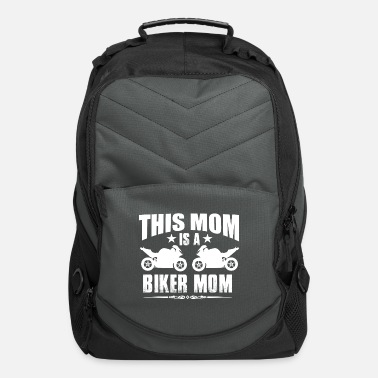Mom This Mom Is A Biker Mom - Computer Backpack
