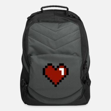 Heart Pixelated - Computer Backpack