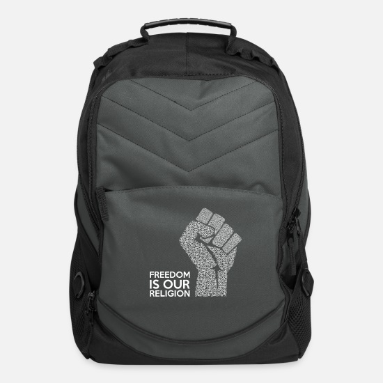 Freedom Bags & Backpacks - Freedom is our religion - Computer Backpack charcoal
