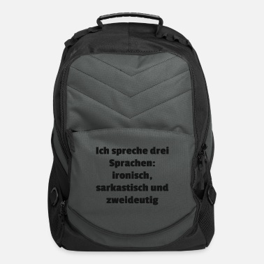 Language languages - Computer Backpack
