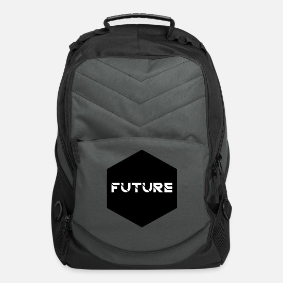 Gift Idea Bags & Backpacks - FUTURE MINIMALISTIC SHIRT - Computer Backpack charcoal