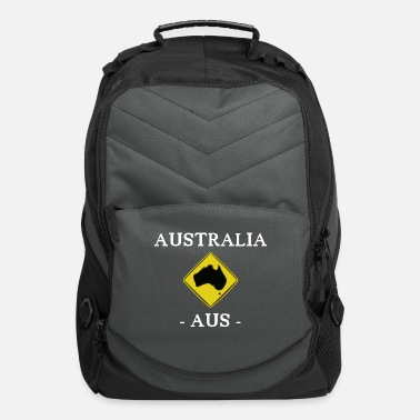 Road Sign Australia Australia - kangaroo - AUS - Sydney - Road Sign - Computer Backpack