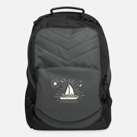 Freedom Bags & Backpacks - typography freedom 31 F - Computer Backpack charcoal