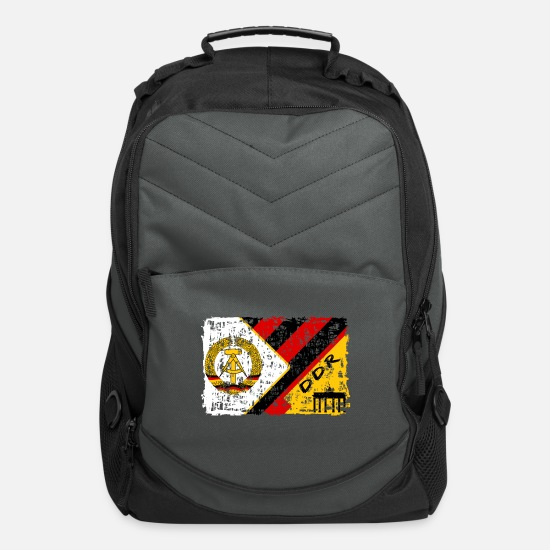 Patriot Bags & Backpacks - GDR Vintage Design / Gift East Germany - Computer Backpack charcoal
