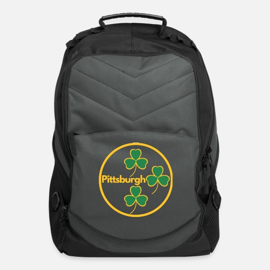 Irish Beer Bags & Backpacks - Pittsburgh Shamrocks - Computer Backpack charcoal